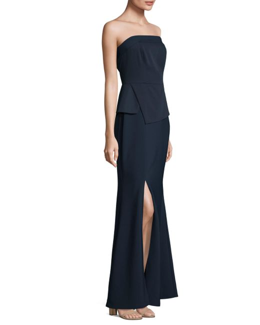 Laundry by Shelli Segal | Blue Strapless Floor-length Gown | Lyst