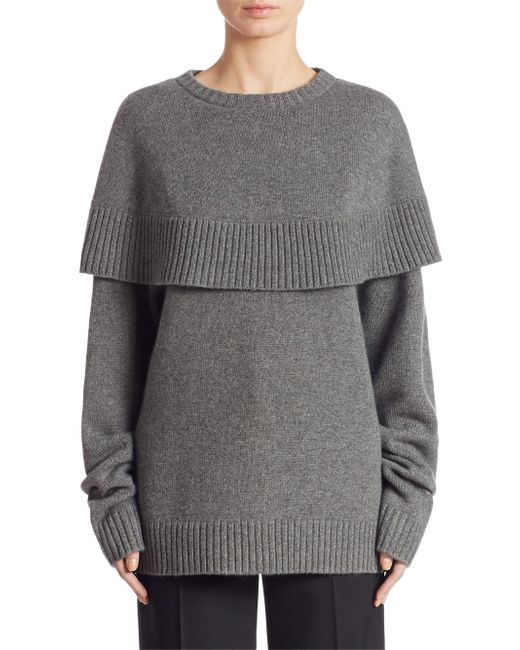Chloé | Gray Cape Knitted Sweater | Lyst