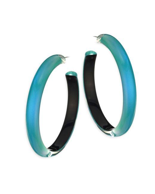 Alexis Bittar   Blue Large Lucite Hoop Earrings/2   Lyst