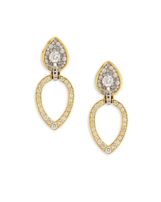 Plevé   Metallic Opus Diamond & 18k Yellow Gold Pear Stud & Ear Jacket Set   Lyst