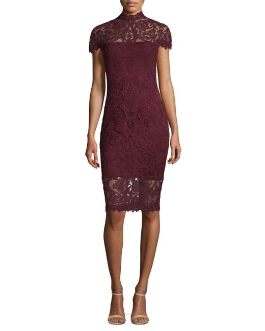 Tadashi Shoji | Purple Sleeveless Lace Dress | Lyst