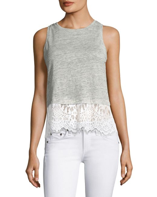 Generation Love | Gray Frances Regular-fit Lace Top | Lyst