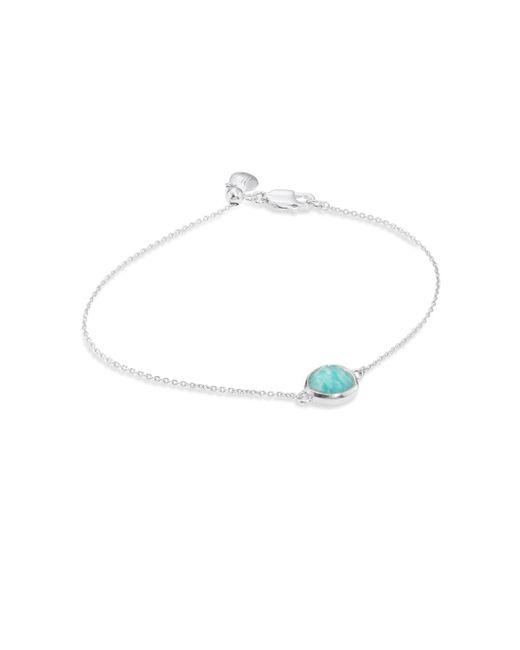 Monica Vinader | Multicolor Siren Fine Chain Amazonite Bracelet | Lyst