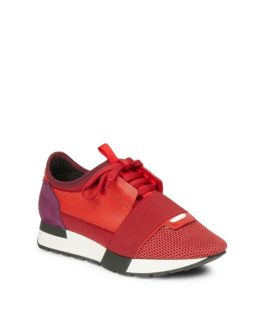 Balenciaga | Red Race Runner Sneakers | Lyst