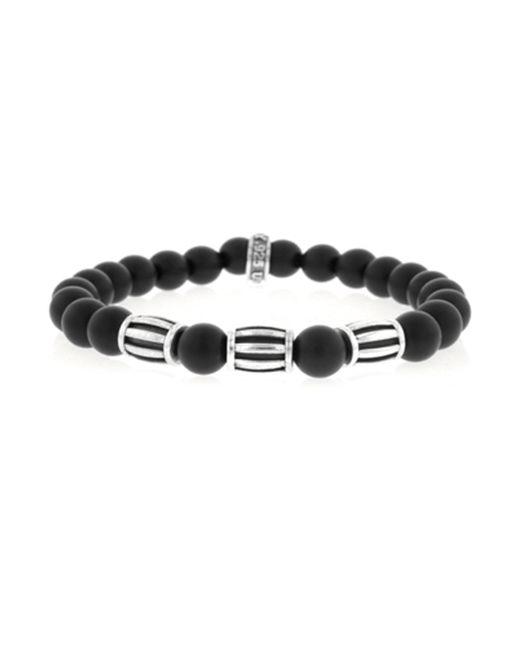 King Baby Studio | Black Onyx Sterling Silver Three Barrel Beaded Bracelet | Lyst