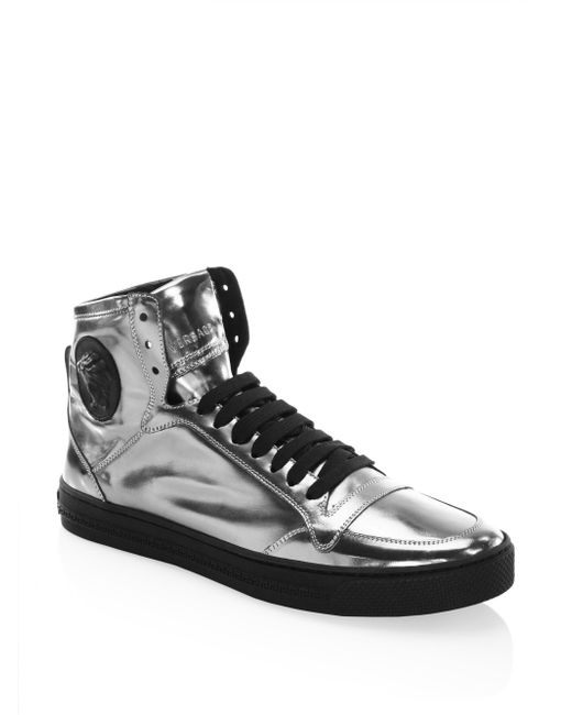 Versace | Multicolor Leather High-top Sneakers for Men | Lyst