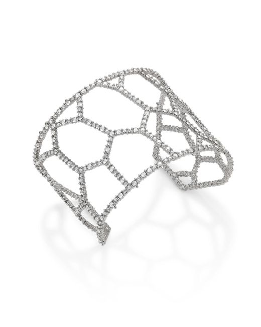Alexis Bittar   Metallic Elements Honeycomb Crystal Cuff   Lyst