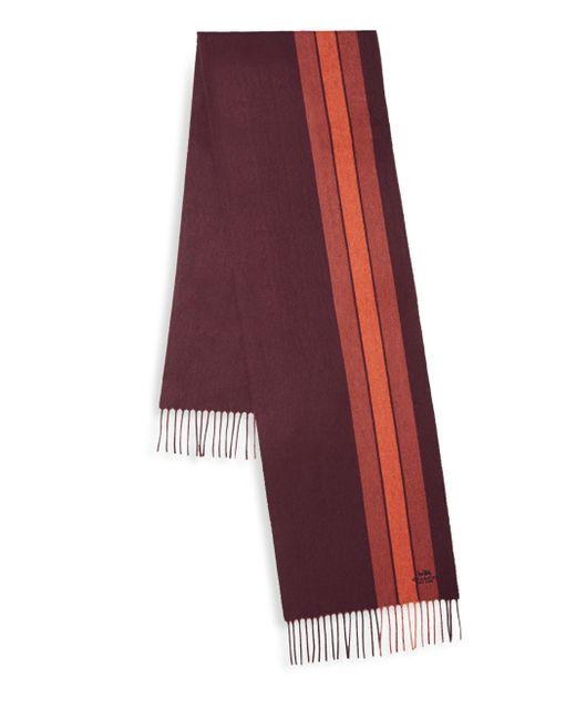 COACH   Red Varsity Stripe Scarf   Lyst