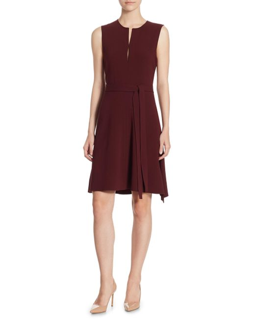 Theory | Red Desza Crepe Dress | Lyst