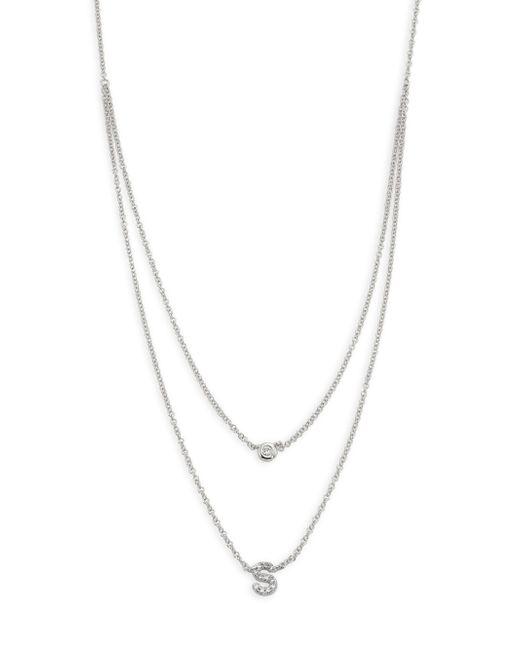 EF Collection | Metallic Diamond Bezel & Initial Pendant Necklace | Lyst