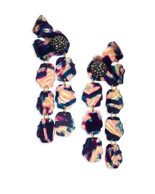 Lele Sadoughi | Blue Petal Drop Earrings | Lyst