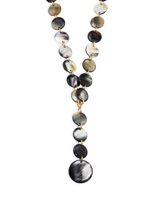 Nest | Multicolor Mixed Horn Y Necklace | Lyst