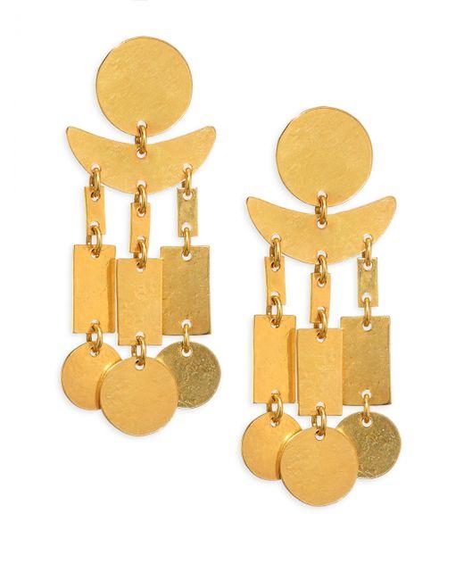 Nest | Metallic Hammered Dangle Earrings | Lyst