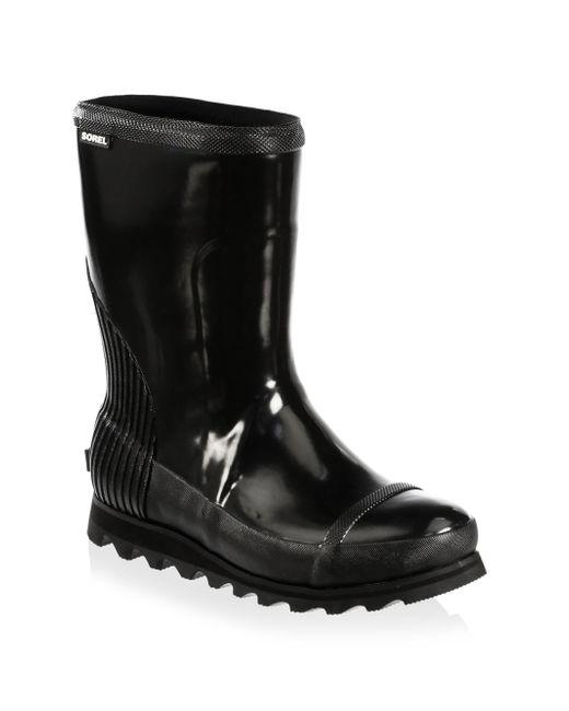 Sorel | Black Joan Rain Rubber Mid-calf Boots | Lyst