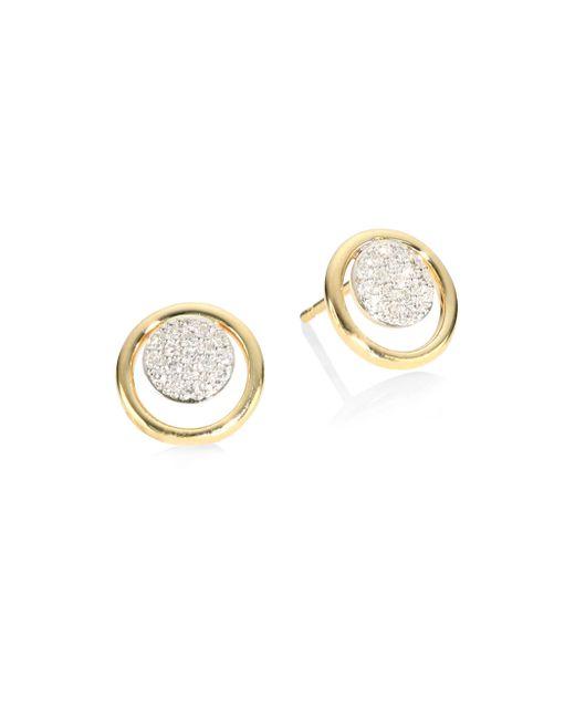 Phillips House | Metallic Affair Diamond Micro Infinity Loop Stud Earrings | Lyst