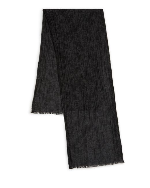 John Varvatos | Gray Crinkled Baroque Scarf for Men | Lyst