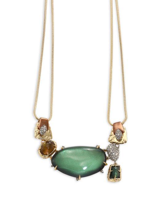 Alexis Bittar | Multicolor Lucite Stone Bib Buckle-detail Necklace | Lyst