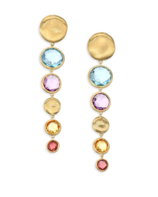 Marco Bicego | Metallic Jaipur Semi-precious Multi-stone Graduated Drop Earrings | Lyst
