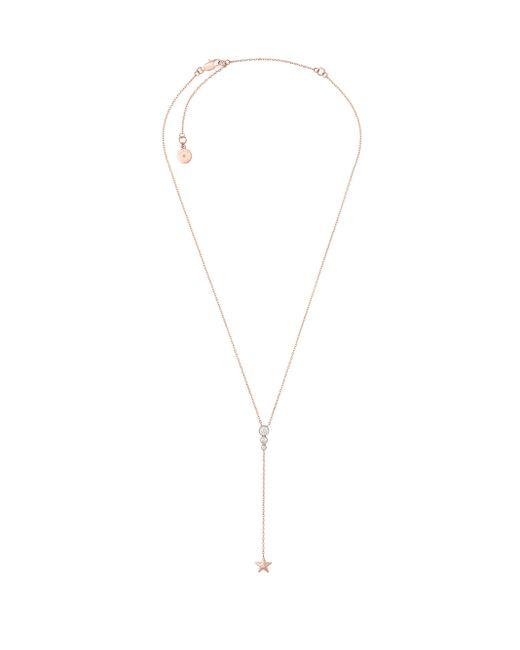 Michael Kors | Metallic Celestial Crystal Star Pendant Lariat Necklace | Lyst