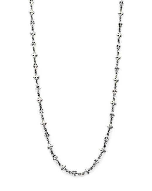 King Baby Studio | Metallic Fleur De Lis & Cross Necklace for Men | Lyst