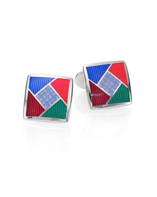 David Donahue | Multicolored Sterling Silver Cuff Links | Lyst