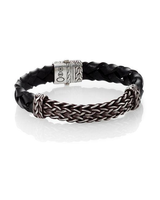 John Hardy | Black Woven Leather Bracelet for Men | Lyst