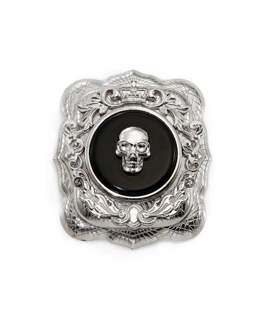 Alexander McQueen   Black Skull Brooch for Men   Lyst