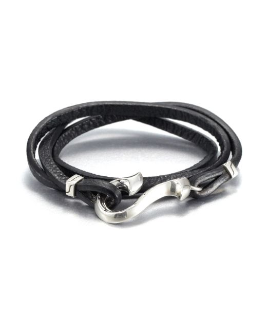John Hardy | Black Sterling Silver And Leather Wrap Bracelet for Men | Lyst