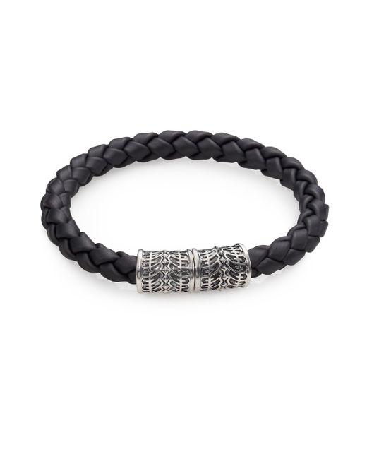 Stephen Webster | Gray Sterling Silver & Woven Rubber Bracelet for Men | Lyst