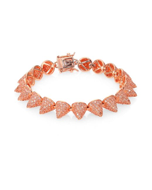 Eddie Borgo | Red Pave Crystal Small Cone Bracelet | Lyst