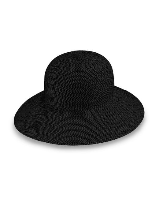 Eric Javits | Black Straw Floppy Hat | Lyst