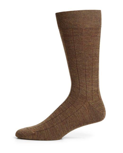 Saks Fifth Avenue | Brown Stretch-wool Dress Socks for Men | Lyst