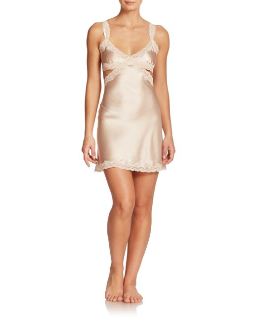 Stella McCartney | Pink Clara Whispering Stretch Silk Chemise | Lyst