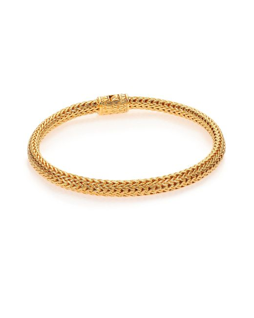 John Hardy | Metallic Classic Chain 18k Yellow Gold Extra-small Bracelet | Lyst
