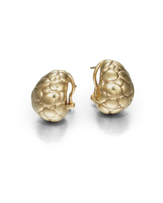 John Hardy | Metallic Kali 18k Yellow Gold Buddha Belly Earrings | Lyst