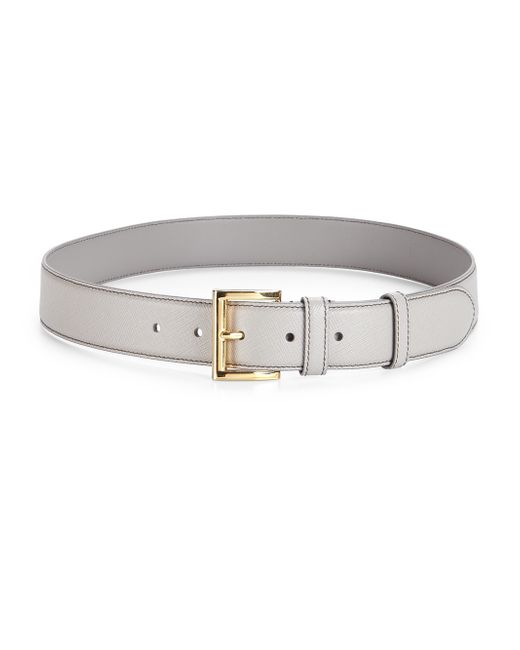 Prada | Natural Saffiano Leather Belt | Lyst