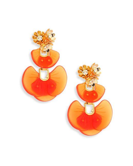 Lele Sadoughi | Orange Island Shell Drop Earrings | Lyst