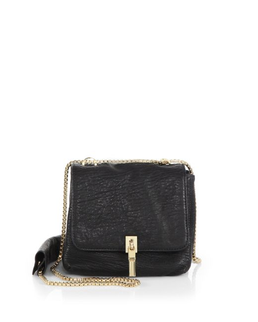 Elizabeth and James | Black Cynnie Mini Bubble-leather Double Shoulder Bag | Lyst