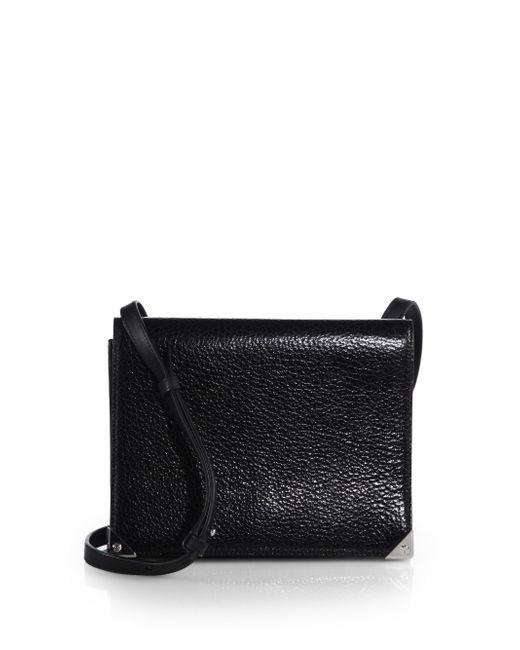 Alexander Wang   Black Prisma Double Envelope Leather Shoulder Bag   Lyst