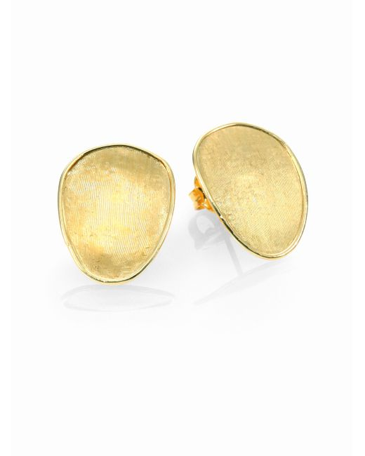 Marco Bicego | Metallic Lunaria 18k Yellow Gold Small Button Earrings | Lyst