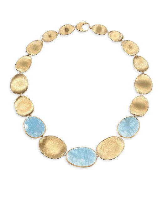 Marco Bicego | Blue Lunaria Aquamarine & 18k Yellow Gold Large Collar Necklace | Lyst