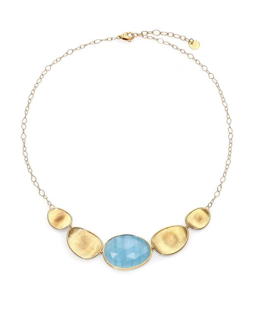 Marco Bicego | Metallic Lunaria Aquamarine & 18k Yellow Gold Necklace | Lyst