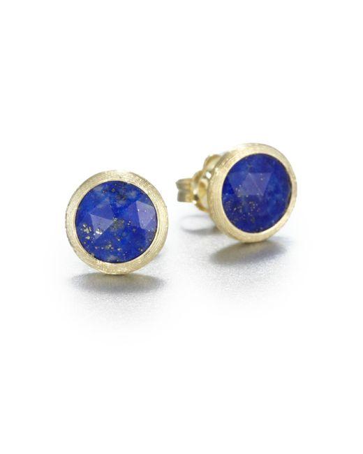 Marco Bicego | Metallic Jaipur Resort Lapis & 18k Yellow Gold Stud Earrings | Lyst