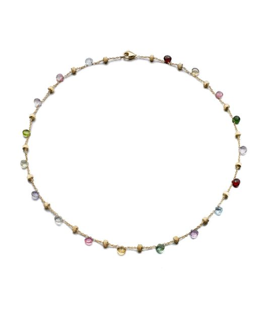 Marco Bicego | Multicolor Paradise Semi-precious Multi-stone & 18k Yellow Gold Station Necklace | Lyst