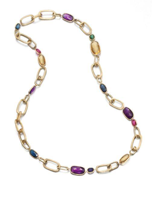 Marco Bicego | Multicolor Murano Semi-precious Multi-stone & 18k Yellow Gold Long Link Necklace | Lyst