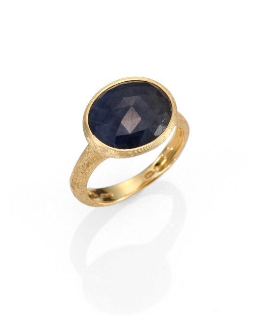 Marco Bicego   Metallic Siviglia Sapphire & 18K Yellow Gold Cocktail Ring   Lyst