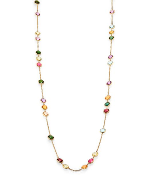 Marco Bicego | Metallic Mini Jaipur Semi-precious Multi-stone Long Station Necklace | Lyst