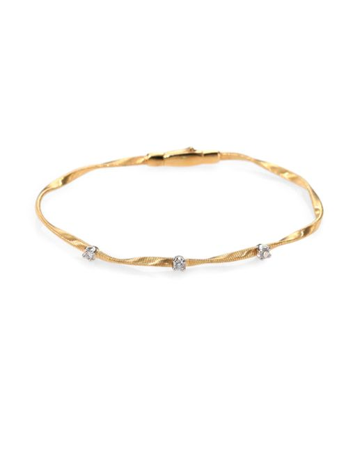 Marco Bicego | Metallic Marrakech Diamond & 18k Yellow Gold Bracelet | Lyst