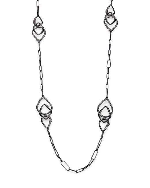 Alexis Bittar | Metallic Miss Havisham Kinetic Gun Pave Crystal Three-link Station Necklace | Lyst