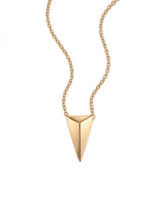 Alexis Bittar | Metallic Miss Havisham Short Spear Pendant Necklace | Lyst
